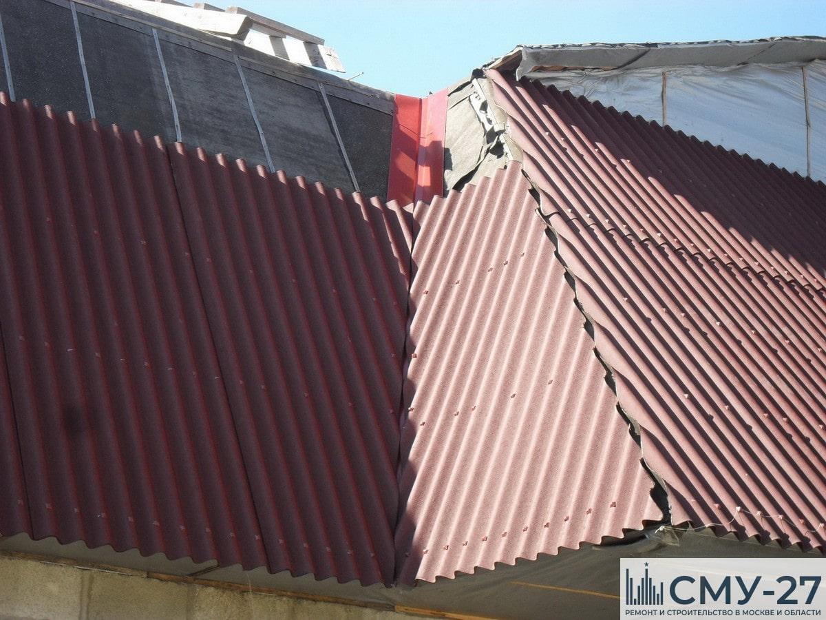 Ремонт крыши из ондулина